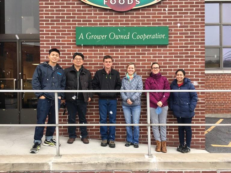 PPEM dept. members on tour at Knouse Foods | Image: Kari Peter, Penn State University