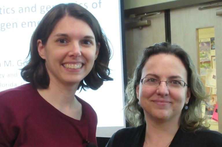 Drs. Erica Goss (L) and María del Mar Jiménez Gasco (R) | Image: Christina Dorsey, Penn State