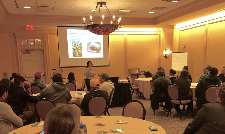 Laura Ramos-Sepúlveda presenting | Image: Carolee Bull, Penn State University
