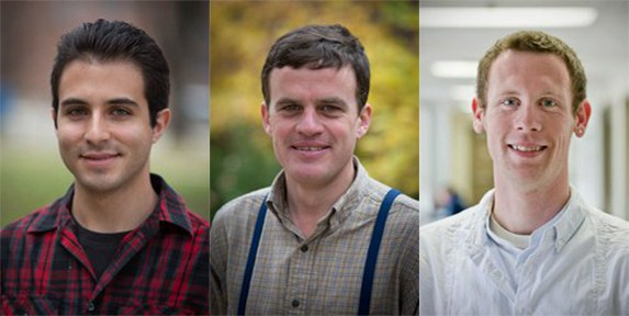 PPEM Graduate Students, from left, Juan Francisco Iturralde-Martinez, Phillip Martin and Joseph Walls. (Image: Penn State)