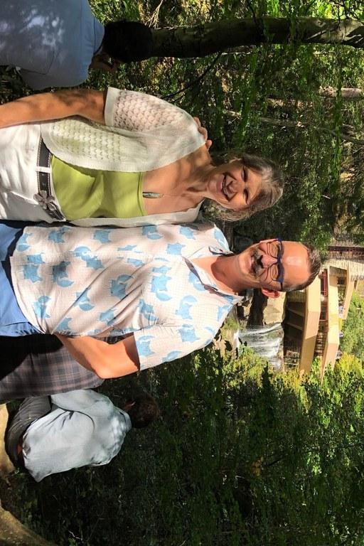 Drs. Carolee Bull and Jim Bradeen at Fallingwater | Image: James Bradeen, University of Minnesota