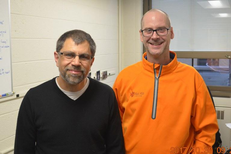 Drs. John McDowell (L) and Paul Esker (R) | Credit: Nancy Wenner, Penn State