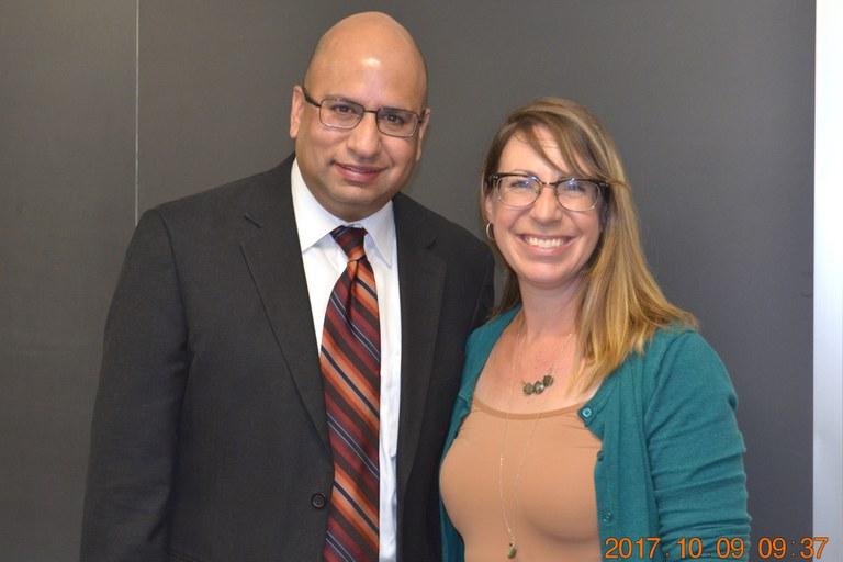 Drs. Manan Sharma (L) and Alyssa Collins (R) | Credit: Nancy Wenner, Penn State