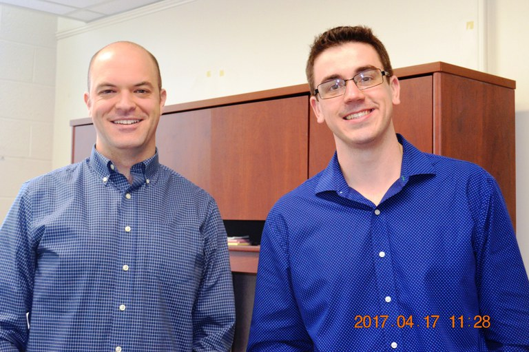 Dr. Kevin Hockett (L) and Cláudio Maurício Vrisman (R) | Image: Nancy Wenner, Penn State