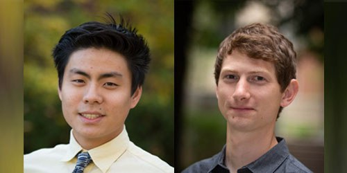 Department of Plant Pathology and Environmental Microbiology graduate students Justin Shih and Chauncy Hinshaw. IMAGE: PENN STATE