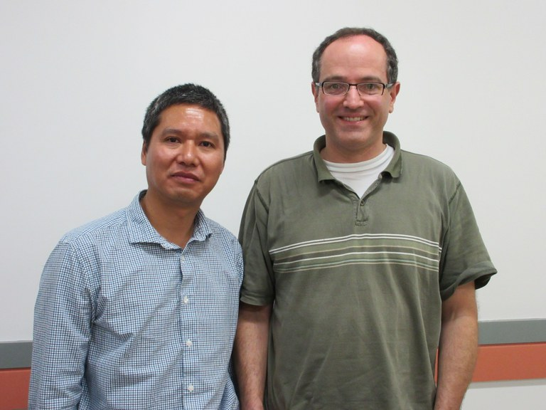 Drs. Zhonglin Mou (L) and Tim McNellis (R)   Image: Christina Dorsey, Penn State
