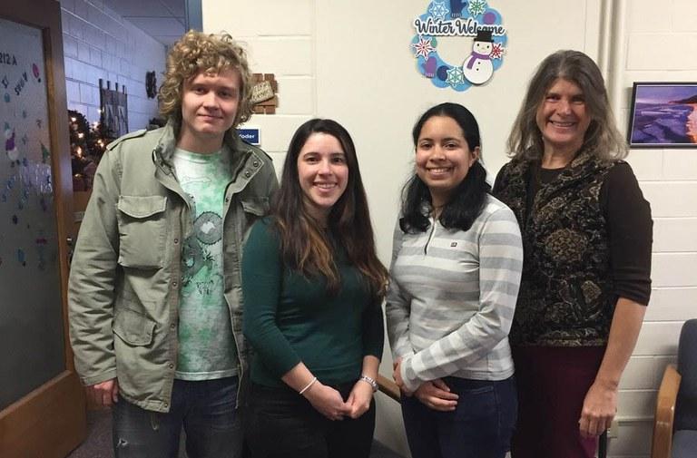 (L-R) Vsevolod Soltanov, Laura Ramos-Sepúlveda, Emma Rosenthal, and Carolee Bull | Image: Marianne Stevens, Penn State University